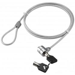 Wirelås til bærbar PC, tyverisikring med nøglelås.