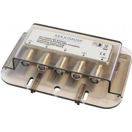 DiSEqC 4-1 High iso switch, Maximum