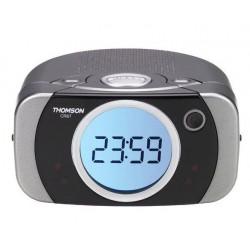 Clockradio with FM radio tuner, snooze, wake on music or alarm, dual alarm and GradUwake.