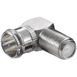 Vinkel F-stik til værkstedbrug. Anvendes hvor der ofte er behov for at påmontere og afmontere antennestik.