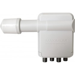 Maximum XO-R4 Quad LNB - distribute signal from 1 LNB to 4 DVB-S/S2 receivers.