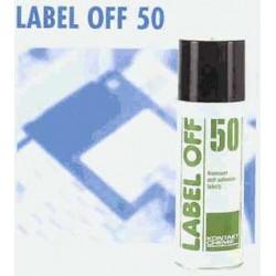 LABEL OFF 50 fjerner effektivt selvklæbende etiketter fra glas,metal, porcelæn,karton og træ.