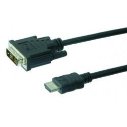 Originalt Dreambox DVI-HDMI kabel. God afskærming og påsvejste stik. Længde 1.8 meter.