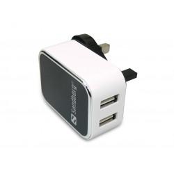 Sandberg AC Charger Dual USB 2.4+1A UK