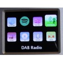 Atemio PTEC Pilatus digital radio - DAB+, FM, MP3, CD, Internetradio, Spotify, UPnP, DLNA med grafisk display.