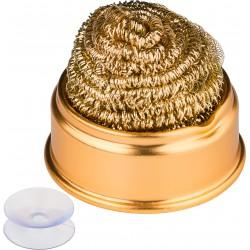 """Rensekit til loddekolbe - kit med holder,sugekop og """"renseuld"""". Hold loddekolbetemperaturen og undgå oxidering af loddespidsen."""