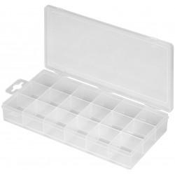 Sortimentsboks opbevaringsbox med 18 rum 30x30 mm.
