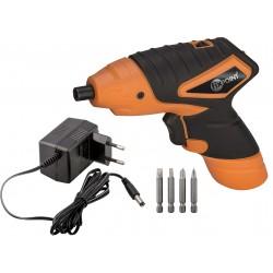 Battery powered screwdriver 3.6 V. LED light, bits included