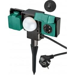 Two-way garden Socket with sensor