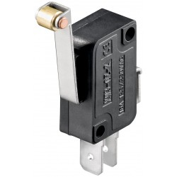 Microswitch lang arm med metalrulle 5A/250V