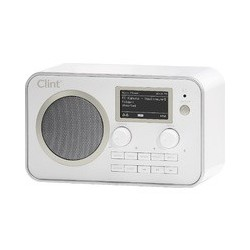 Clint L1 DAB+ and FM radio with bluetooth streaming, white