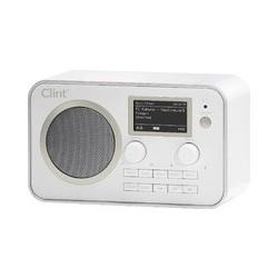 Clint L1 DAB+ og FM radio med bluetooth streaming, hvid