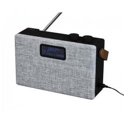 Clint F7 DAB+/FM stereo bord radio med Bluetooth. Grå.