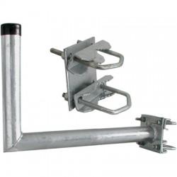 Galvaniseret vinkelbeslag (altanbeslag) til antenne, parabol, kamera mm. 50x450 mm.
