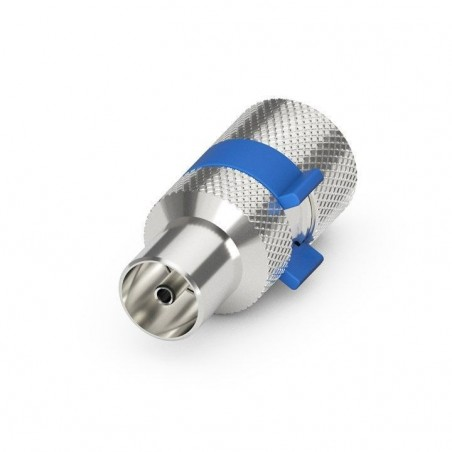 Coax antenna plug male, IEC, to 6.5-8.00 mm. antenna cable, Quick