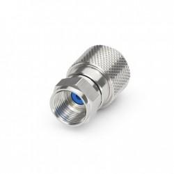 F-stik antennestik Easy-Install Ø6,8-7,0 mm. kabel (blå markering)