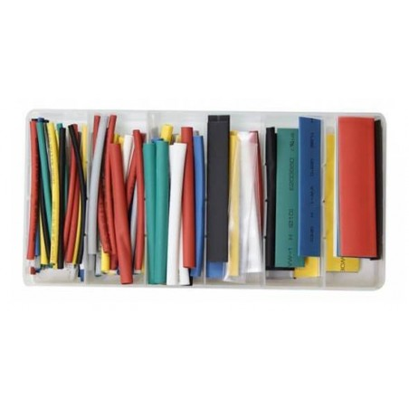 Shrinkable tubing, 128 pcs
