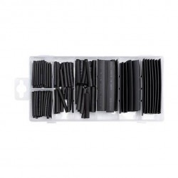 Heat-shrink tubing set. 127 pcs, black, soft