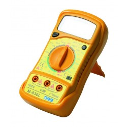 Digitalt multimeter til måling af strøm, spænding og modstand.
