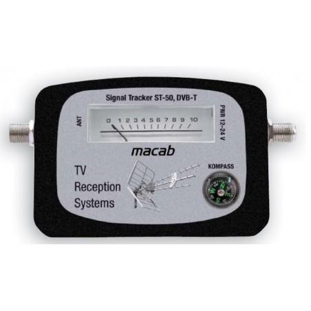 Justering af TV antenne, DVB-T signalmeter ( antenne signalstyrkemåler )