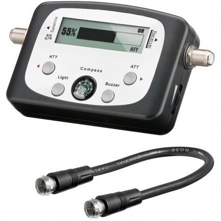 Sat-finder, ny digital satfinder med kompas og lyd.