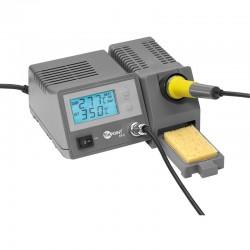 Digital loddestation, 48 W. loddekolbe. Nøjagtigt justering af loddekolbe temperatur via op/ned taster og digital udlæsning af t