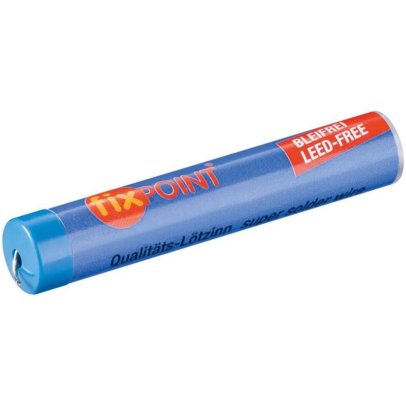 Loddetin Fixpoint 1.0 mm 12.5 gram Blyfri. Halogenfrit med lav røgudvikling. 3,5% sølv