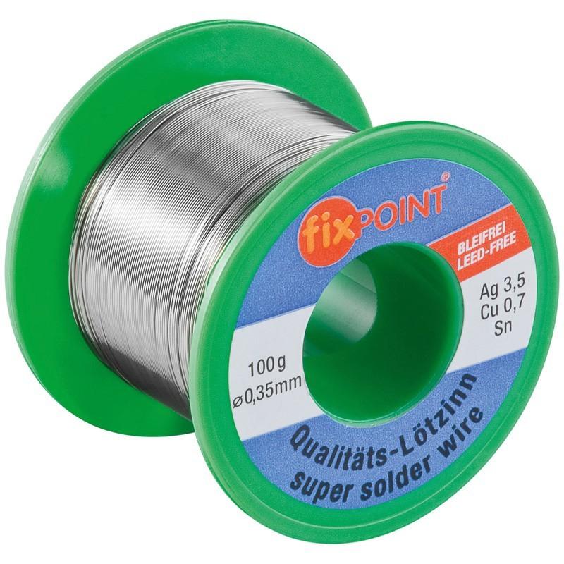 Loddetin Fixpoint 0.35 mm 100 gram Blyfri