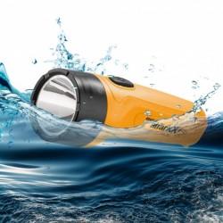 Lommelygte LED, Sharxx mini, vandtæt LED lommelygte, synkefri. Til maritimt brug.