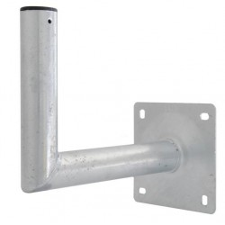 Mur beslag Ø60 x 350 mm, varmgalvaniseret stål. kraftig god kvalitet, fremstillet i EU.