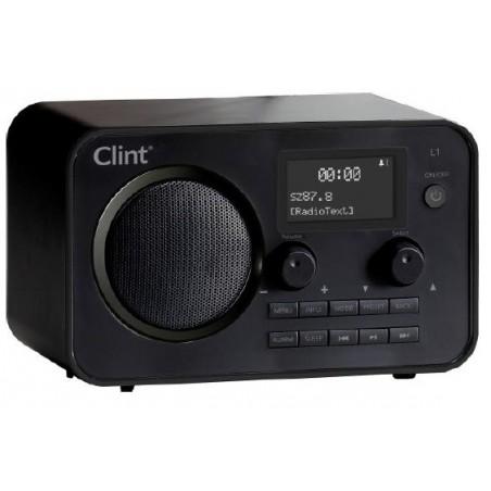 Clint L1 DAB+ og FM radio,bluetooth streaming, sort
