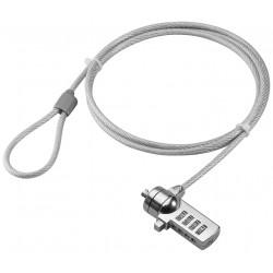 Wirelås til bærbar PC, tyverisikring med 4-cifret kodelås.