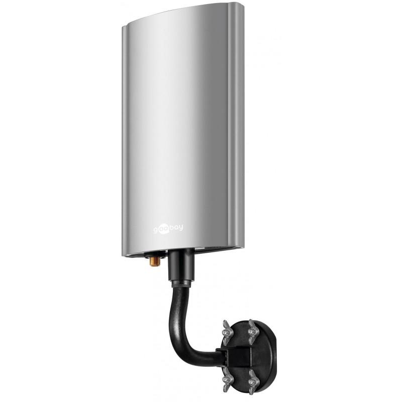 Udendørs TV antenne med forstærker,DVB-T, DVB-T2 samt DAB/DAB+ radio. Egnet til frie kanaler fra DR samt betalings TV fra Boxer