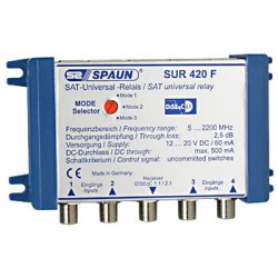 Spaun SUR 420 F - Universal SAT relæ / DiSEqC switch. TOP QUALITY.