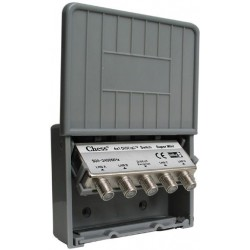 DiSEqC 4-1 switch (omskifter til parabolhoved) i vandtæt hus.