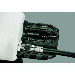 Waterlock - effektiv beskyttelse af F stik på parabol og antenne. Her vist ved montering af LNB.