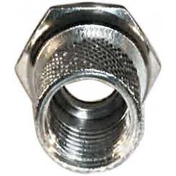 F-stik 7 mm. Standard, til parabol og antenne. Antennestik der er HF tæt