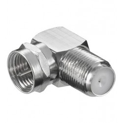 F-connector / F-plug male/female angle. For antenna and satellite dish installation.