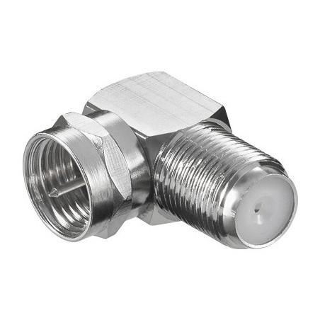 F-plug - angled F-connector male-female