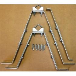Holdesæt for masterør, justerbart 25-50 cm.. Til antenne og parabol mast.