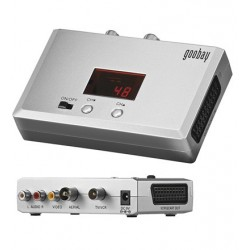 Converts video and audio signals (mono) from DVD recorders, digital cameras into high-frequency signals (VHF/UHF)