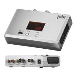 RF modulator, send audio og video signaler fra kamera, DVD recorders og andre AV kilder rundt som antennesignal.