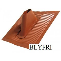 Roof cover, red. Plastic coated aluminum