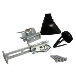Komplet monteringssæt. Anvendes ved gennemføring i tag af masterør til eksempelvis antenne eller parabol.
