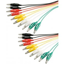 Test leads 10 pieces with alligator clips