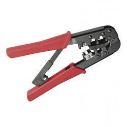 Crimping tool for modular plugs, metal version.
