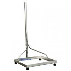 Mast for satellite dish - mobile use. Alumium.