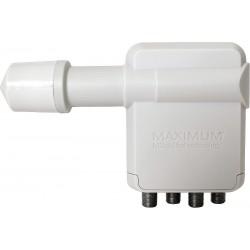 Maximum XO-R4 - QUAD LNB til parabol - gør det muligt at sende parabolsignal til 4 digitalmodtagere. Egnet til HD TV signaler.