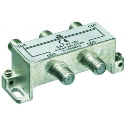 4 Way splitter for Terristrial TV, CATV and radio signals.,5-1000 MHz.