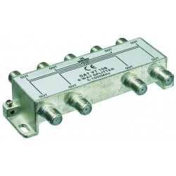 8 vejs splitter - fordel antennesignal fra antenne eller kabel TV til 8 rum.